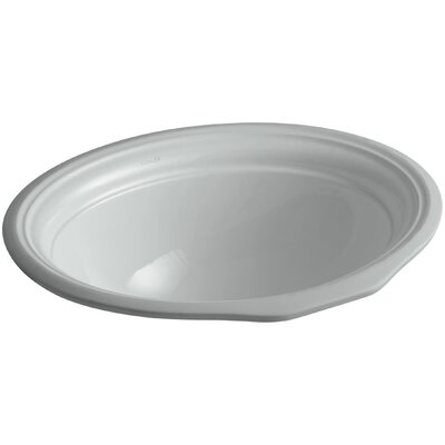 Devonshire Ceramic Oval Undermount Bathroom Sink with Overflow Sink Finish: Ice Grey