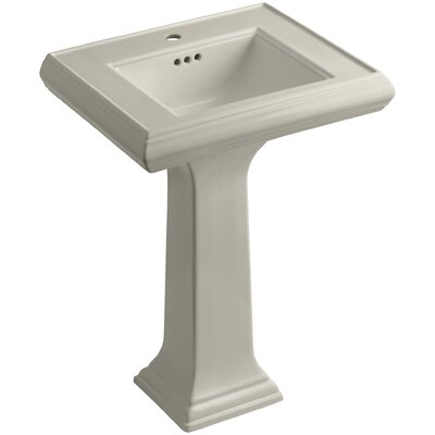Memoirs� Ceramic 24 Pedestal Bathroom Sink with Overflow Finish: Sandbar, Faucet Hole Style: Single