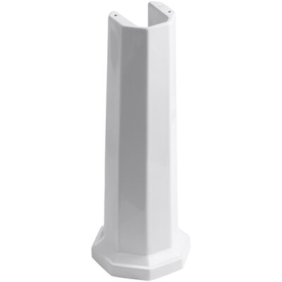 Kathryn Bathroom Sink Pedestal Finish: White