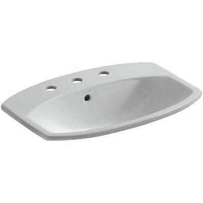 Cimarron� Ceramic Rectangular Drop-In Bathroom Sink with Overflow Finish: Ice Grey