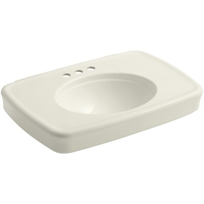 Bancroft 30 Pedestal Bathroom Sink with Overflow Finish: Biscuit