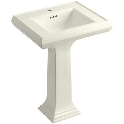 Memoirs� Ceramic 24 Pedestal Bathroom Sink with Overflow Finish: Biscuit, Faucet Hole Style: 8 Widespread