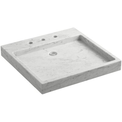 Purist� Stone Rectangular Drop-In Bathroom Sink Finish: White Carrara Marble