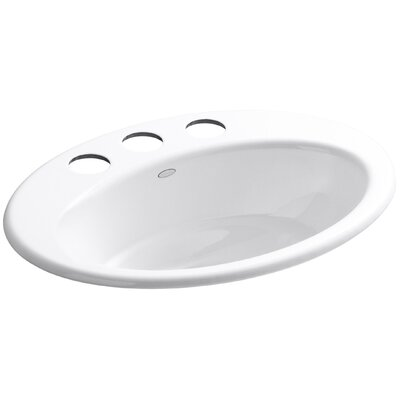 Thoreau Oval Undermount Bathroom Sink with Overflow Finish: White, Faucet Hole Style: 4 Centerset
