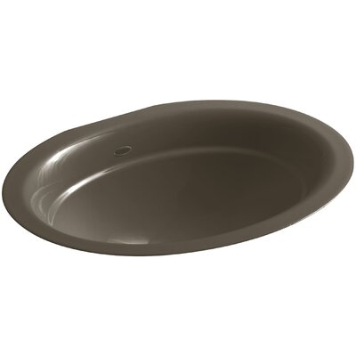 Serif Oval Undermount Bathroom Sink Sink Finish: Suede