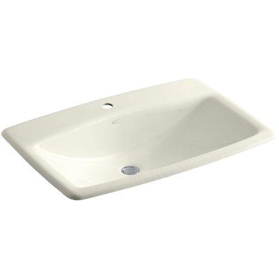 Mans Lav Self Rimming Bathroom Sink Finish: Biscuit