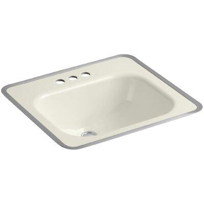 Tahoe Metal Rectangular Drop-In Bathroom Sink with Overflow Sink Finish: Biscuit
