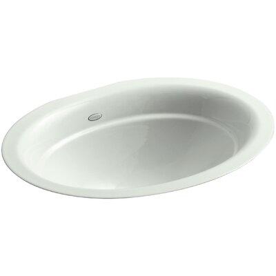 Serif Oval Undermount Bathroom Sink Sink Finish: Sea Salt