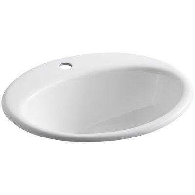 Farmington Self Rimming Bathroom Sink Finish: White