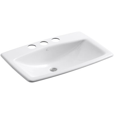 Mans Lav Metal Rectangular Undermount Bathroom Sink with Overflow Sink Finish: White