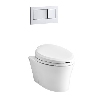 Veil Wall-Hung Elongated Toilet Bowl Finish: White