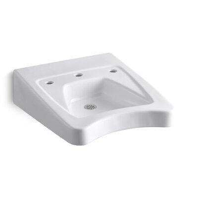 Morningside 20 Wall Mount Bathroom Sink Finish: White