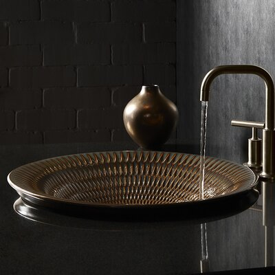 Derring Carillon Wading Vessel Bathroom Sink Sink Finish: Bluestone Rutile