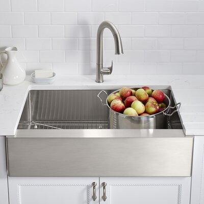 Strive 35.5 x 21.25 Self-Trimming Undermount Large Single-Bowl Kitchen Sink