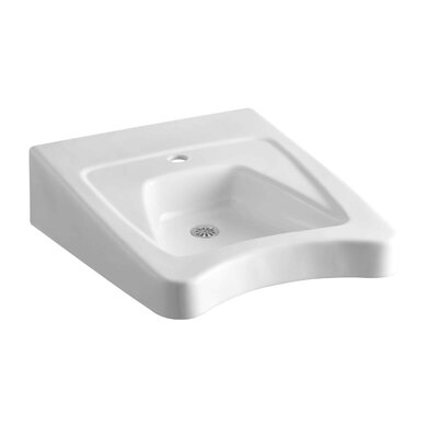 Morningside 20 Wall Mount Bathroom Sink Finish: White