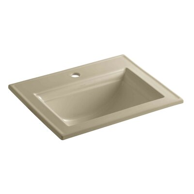 Memoirs� Ceramic Rectangular Drop-In Bathroom Sink with Overflow Finish: Mexican Sand