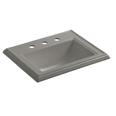 Memoirs� Ceramic Rectangular Drop-In Bathroom Sink with Overflow Finish: Cashmere, Faucet Hole Style: 8 Widespread