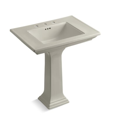 Memoirs� Ceramic 30 Pedestal Bathroom Sink with Overflow Finish: Sandbar, Faucet Hole Style: 8 Widespread