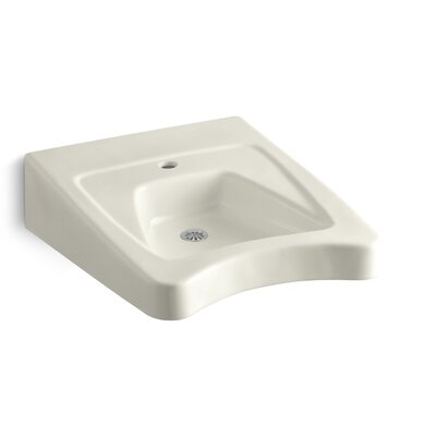 Morningside Ceramic 20 Wall Mount Bathroom Sink with Overflow Finish: Biscuit