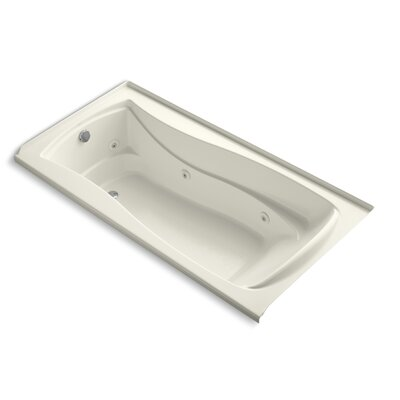 Mariposa 72 x 36 Whirlpool Bathtub Finish: Biscuit