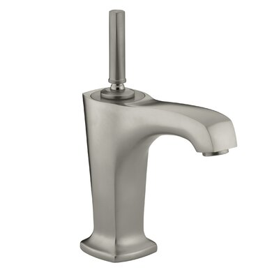 Margaux Single hole Single Handle Bathroom Faucet with Drain Assembly Finish: Vibrant Brushed Nickel