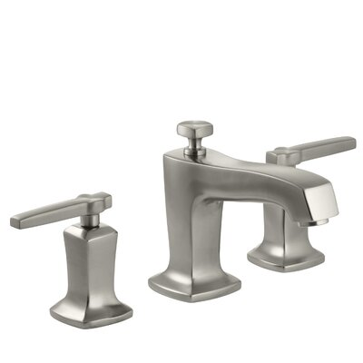 Margaux Widespread Double Handle Bathroom Faucet with Drain Assembly Finish: Vibrant Brushed Nickel