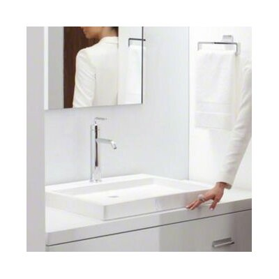 Purist� Ceramic Rectangular Drop-In Bathroom Sink Finish: White