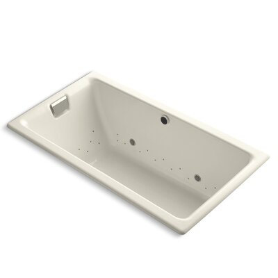 Tea-For-Two Bubblemassage 66 x 36 Whirpool Bathtub Finish: Black Black, Jet Finish: Brushed Nickel