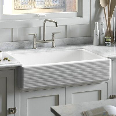 Whitehaven 35.69 x 21.56 Farmhouse Single Bowl Kitchen Sink