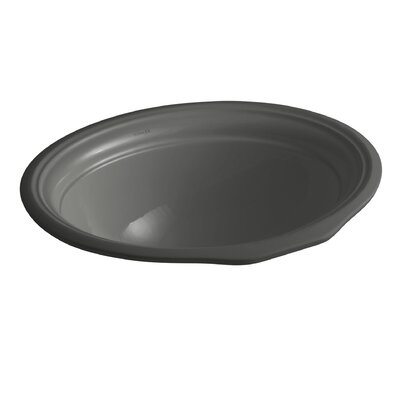 Devonshire Oval Undermount Bathroom Sink with Overflow Sink Finish: Thunder Grey