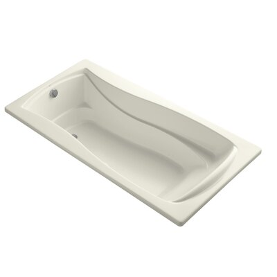 Mariposa Bubblemassage 72 x 36 Soaking Bathtub Finish: Biscuit