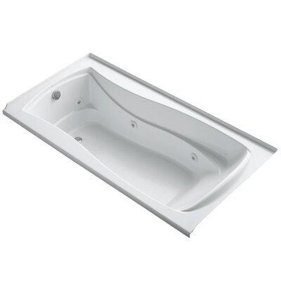 Mariposa Alcove 72 x 36 Whirpool Bathtub Finish: White, Drain Location: Right