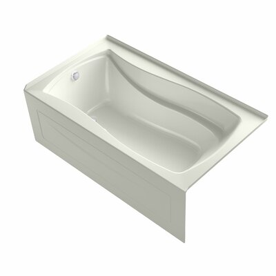Mariposa Alcove Bubblemassage 66 x 36 Soaking Bathtub Finish: Biscuit, Drain Location: Right