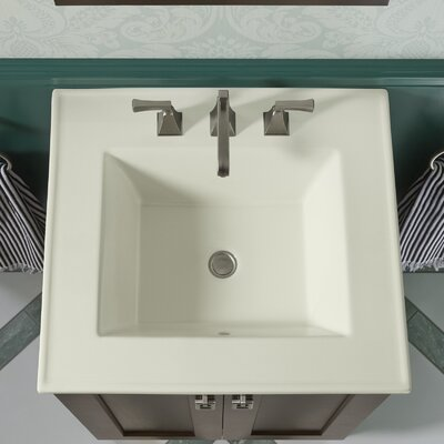 Ceramic Impressions Impressions Ceramic Rectangular Drop-In Bathroom Sink with Overflow Finish: Biscuit Impressions