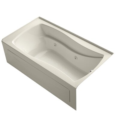 Mariposa 66 x 36 Alcove Whirlpool Finish: Almond, Drain Location: Right