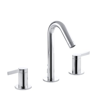 Stillness Widespread Double Handle Bathroom Faucet with Drain Assembly Finish: Polished Chrome
