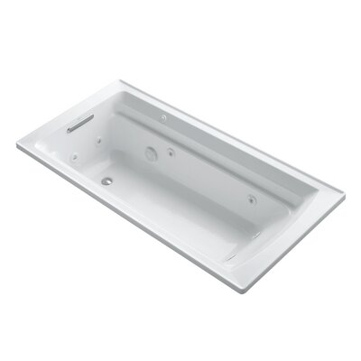 Archer 72 x 36 Drop-in Whirlpool with Reversible Drain and Bask Heated Surface Finish: White