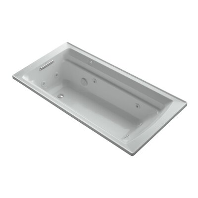 Archer 72 x 36 Drop-in Whirlpool with Reversible Drain and Bask Heated Surface Finish: Ice Grey