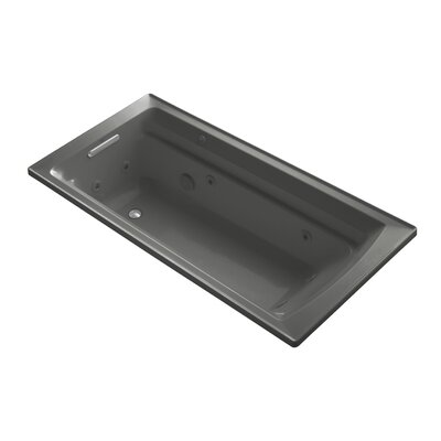 Archer 72 x 36 Drop-in Whirlpool with Reversible Drain and Bask Heated Surface Finish: Thunder Grey