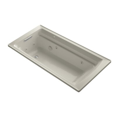 Archer 72 x 36 Drop-in Whirlpool with Reversible Drain and Bask Heated Surface Finish: Sandbar