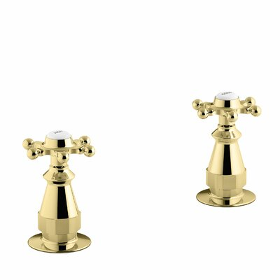 Antique Deck-Mount High-Flow Bath Valve Trim with Six-Prong Handles, Valve Not Included Finish: Vibrant Polished Brass