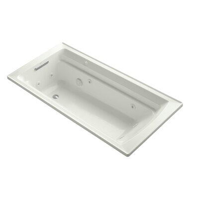 Archer 72 x 36 Drop-in Whirlpool with Reversible Drain and Bask Heated Surface Finish: Dune