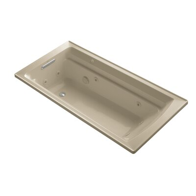 Archer 72 x 36 Drop-in Whirlpool with Reversible Drain and Bask Heated Surface Finish: Mexican Sand