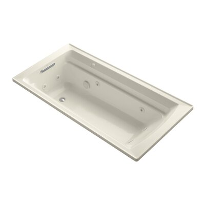 Archer 72 x 36 Drop-in Whirlpool with Reversible Drain and Bask Heated Surface Finish: Almond