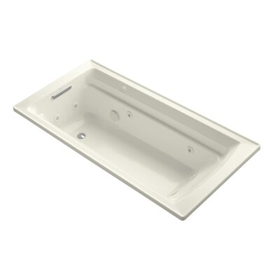 Archer 72 x 36 Drop-in Whirlpool with Reversible Drain and Bask Heated Surface Finish: Biscuit