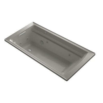 Archer 72 x 36 Drop-in Whirlpool with Reversible Drain and Bask Heated Surface Finish: Cashmere