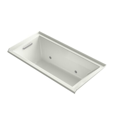 Underscore 60 x 30 Soaking Bathtub Finish: White, Drain Location: Right