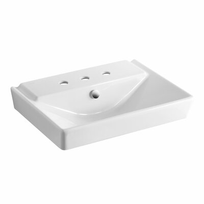 Reve 23 Pedestal Bathroom Sink with Overflow Finish: White