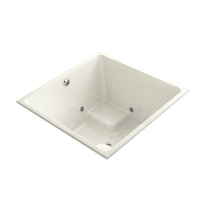 Underscore 48 x 48 Drop-In VibrAcoustic Bathtub with Bask Heated Surface and Chromatherapy Finish: Biscuit