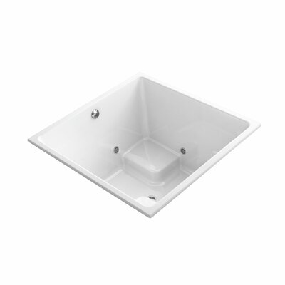 Underscore 48 x 48 Drop-In VibrAcoustic Bathtub with Bask Heated Surface and Chromatherapy Finish: White